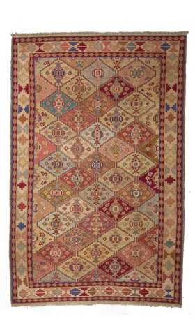 0251-Decorative Soumak Rug - 4' 1'' x 6' 3'' (124 cm x 190 cm)