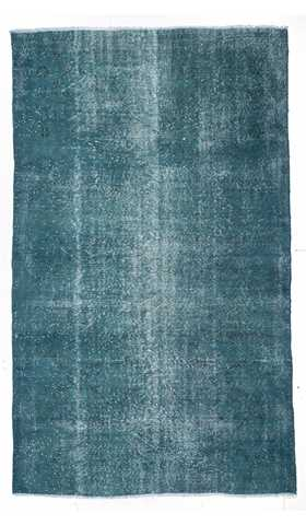 0509-Vintage Over-dyed Rug - 5' 5'' x 9'  (165 cm x 275 cm)