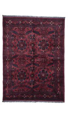 Tribal Afhgan Red Color Rug