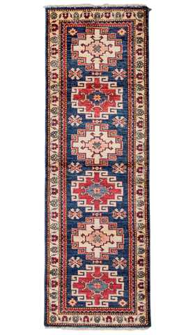 Blue Color Tribal Runner Rug