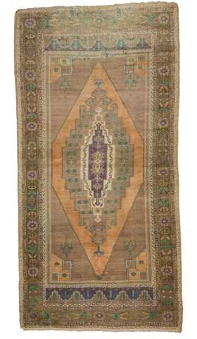 5874-Turkish Vintage Rug - 4' 9'' x 9' 4'' (145 cm x 284 cm)