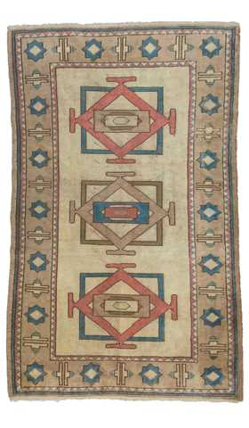 5878-Turkish Vintage Rug - 4' 2'' x 6' 8'' (128 cm x 204 cm)