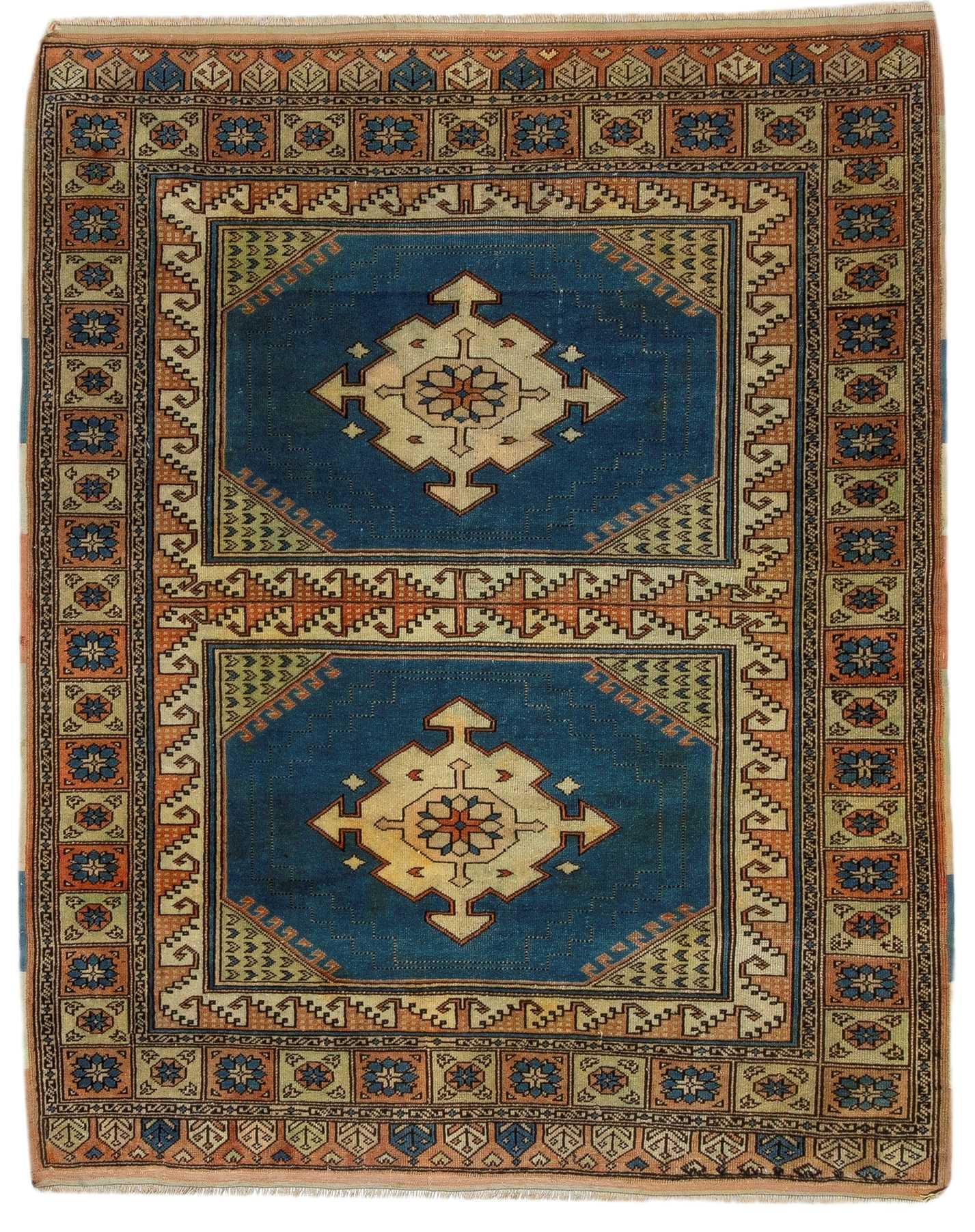 Vintage Decorative Turkish Tribal Rug 5884