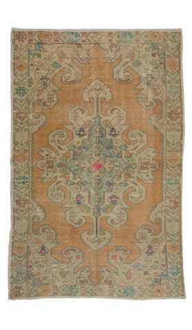 6879-Vintage Turkish Rug - 4' 6'' x 6' 11'' (137 cm x 210 cm)