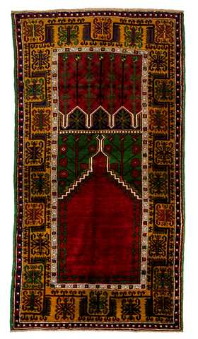 7529-Turkish Konya Ladik Rug - 4' 9'' x 7' 4'' (146 cm x 223 cm)