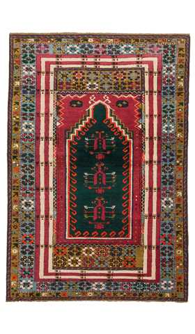 7655-Mucur Turkish Rug - 3' 7'' x 5' 3'' (110 cm x 160 cm)