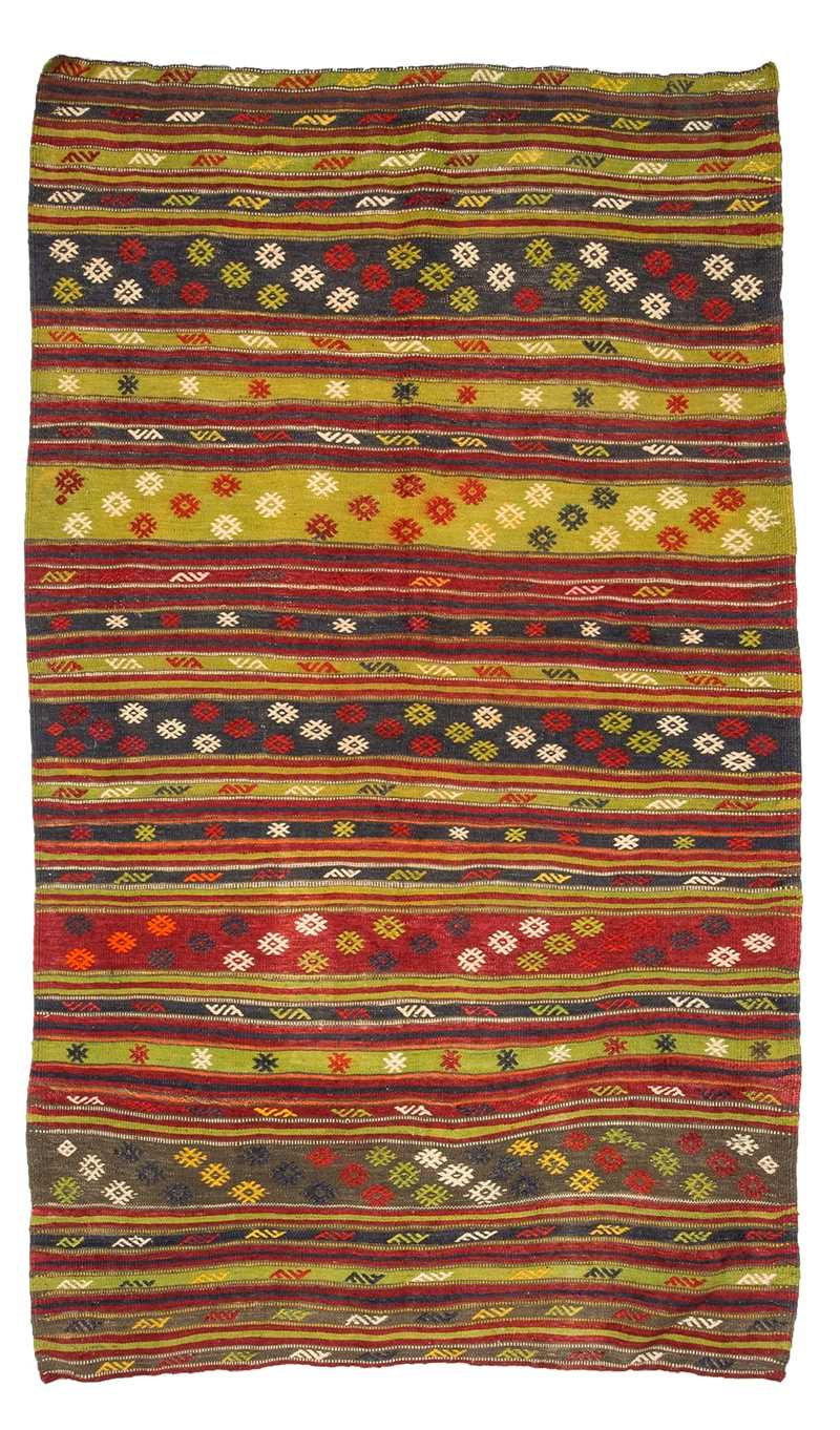Vintage Turkish Kilim Rug-7772