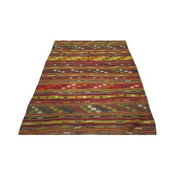 Vintage Turkish Kilim Rug-7772 detail 1