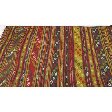 Vintage Turkish Kilim Rug-7772 detail 3