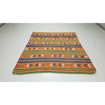 Old Turkish Balikesir Kilim Rug-H5869 detail 1