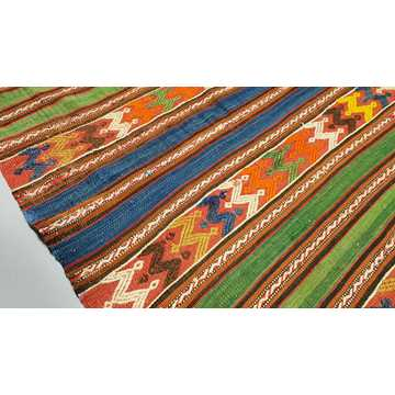 Old Turkish Balikesir Kilim Rug-H5869 detail 3